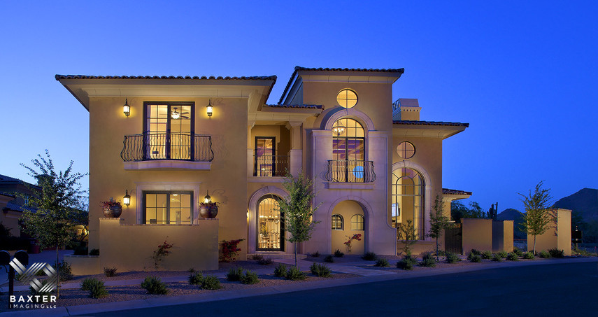 architectural photography homes. Evening Exterior Of Sterling At Silverleaf Villa By Luster Custom Homes Architectural Photography Michael Baxter, Baxter Imaging LLC